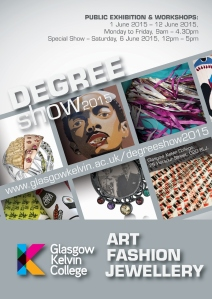 Degree Show 2015 poster