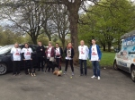 Students Taking Part in Sponsored Walk