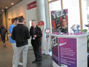 Mike McConnel of YEZ encouraging & supporting students' enterprising ambitions
