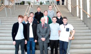 Alan Sherry along with Foundation Programme Apprentices