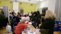 Community Craft Group were established after meeting at an Adult Learners' Forum meeting and after realising they had a shared interest in arts and crafts set up a new group in the East End of Glasgow. At the event the group demonstrated card and jewellery making.