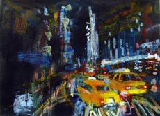 Yellow Cabs Times Square